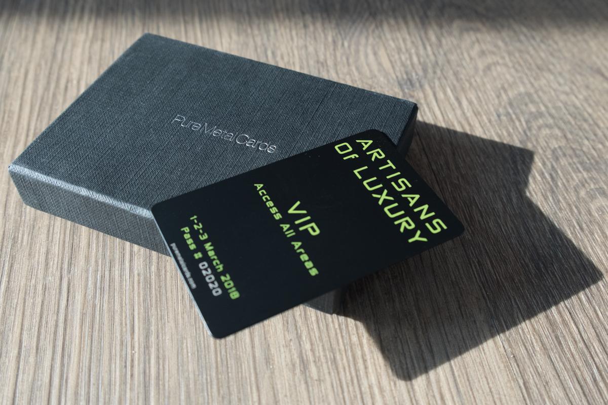 Pure Metal Cards - matt black titanium card