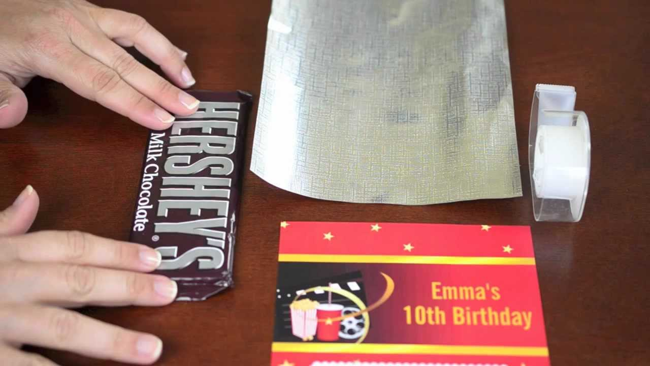 personalized candy wrappers for birthday
